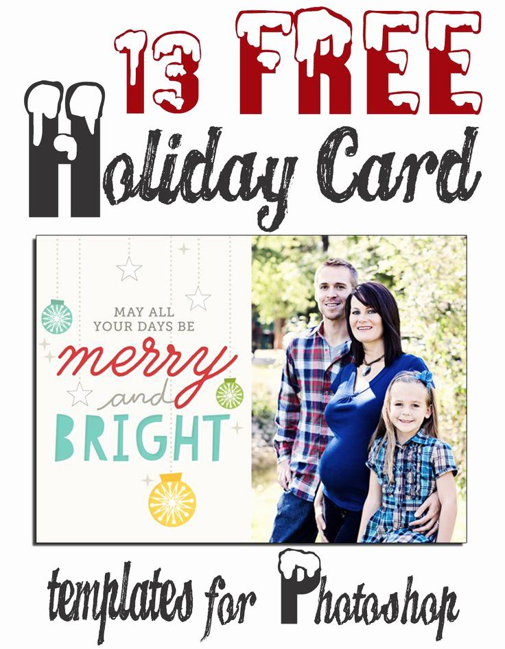 Photoshop Christmas Card Templates Fresh Free Christmas Holiday Shop Card Templates