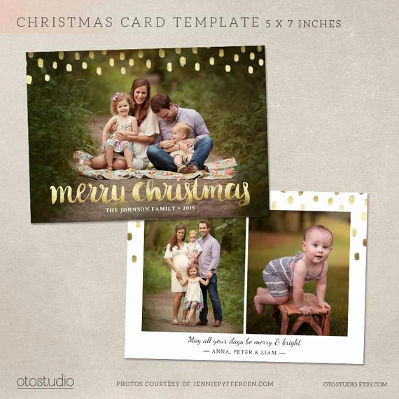 Photoshop Christmas Card Templates Inspirational Christmas Card Template Shop Template 5x7 Flat Card