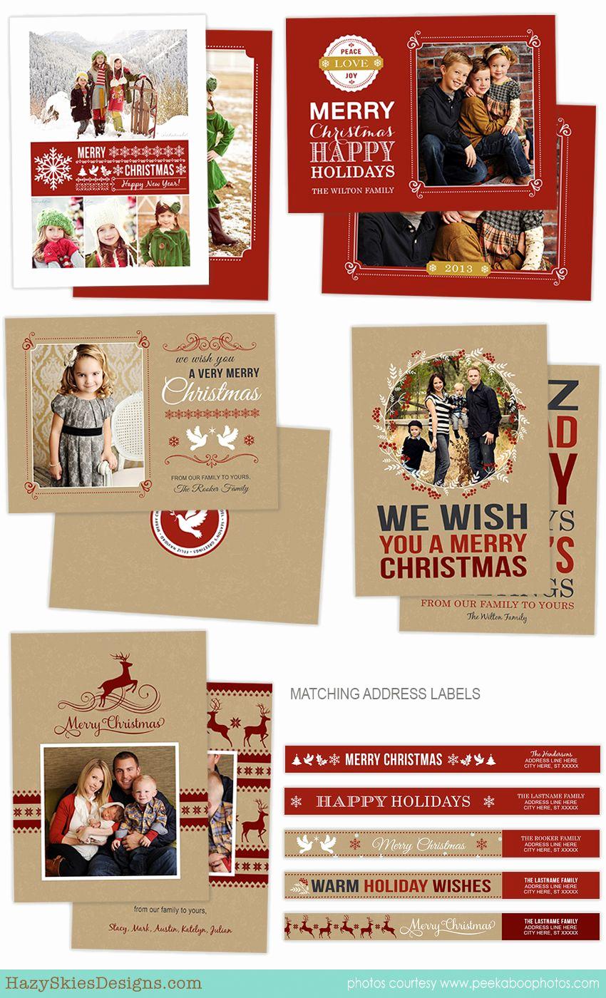 Photoshop Christmas Card Templates Luxury Holiday Card Shop Templates for Graphers