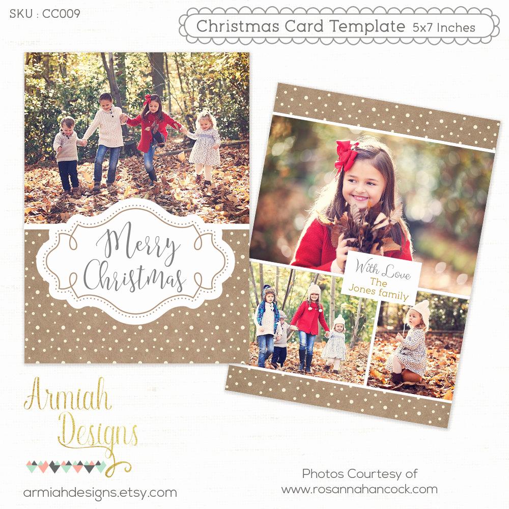 Photoshop Christmas Card Templates Unique Digital Shop Christmas Card Template for Photographers
