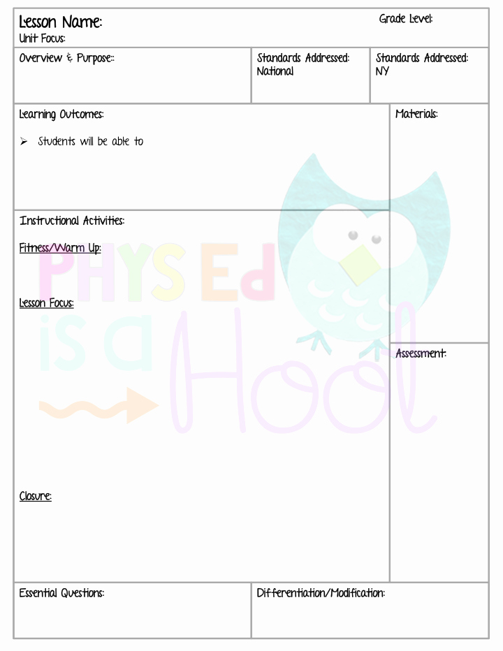 Phys Ed Lesson Plan Template Elegant Time to Get organized Tap the Pin if You Love Super
