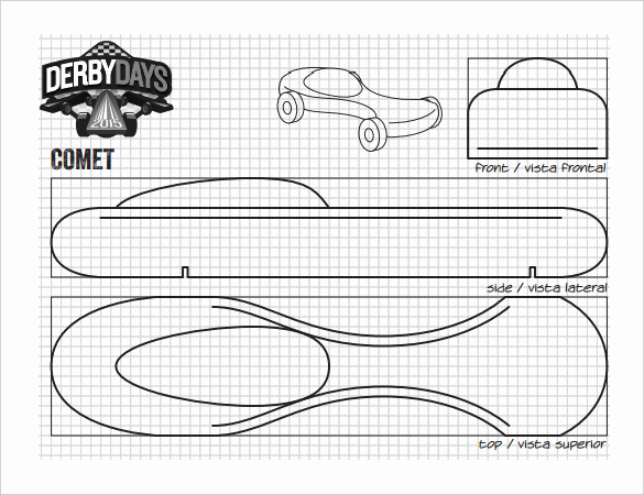 Pinewood Derby Car Design Template Awesome 27 Awesome Pinewood Derby Templates – Free Sample