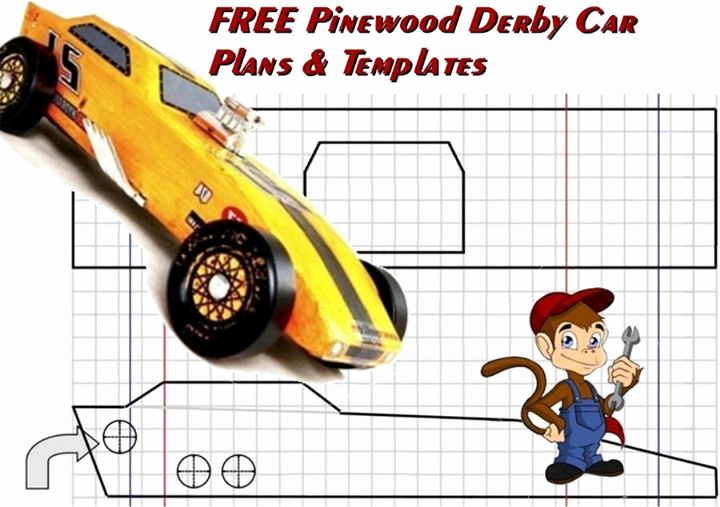 Pinewood Derby Car Design Template Beautiful Free Pinewood Derby Car Plans and Templates