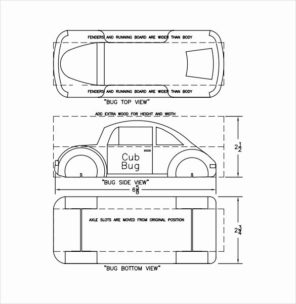 Pinewood Derby Car Design Template Inspirational 12 Sample Pinewood Derby Templates to Download