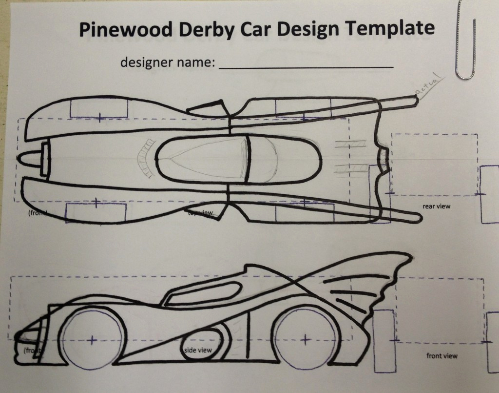 Pinewood Derby Car Design Template Inspirational How to Build An Awesome Batmobile Pinewood Derby Car