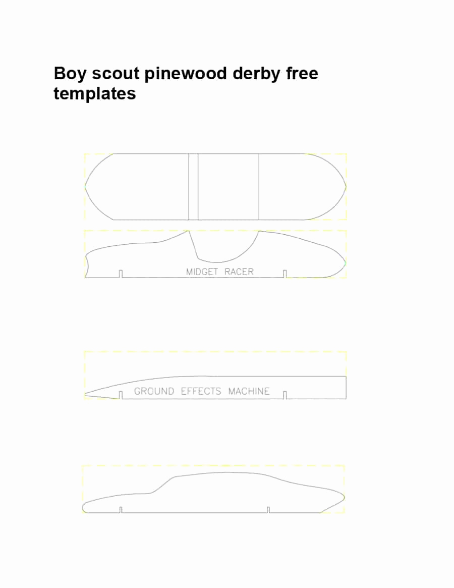 Pinewood Derby Car Design Template Lovely 39 Awesome Pinewood Derby Car Designs & Templates