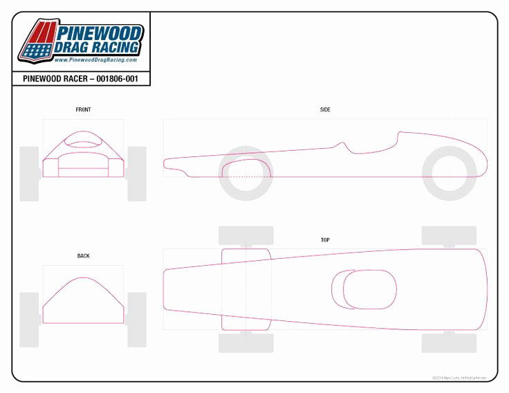 Pinewood Derby Car Design Template Unique Free Pinewood Derby Template by Sin Customs