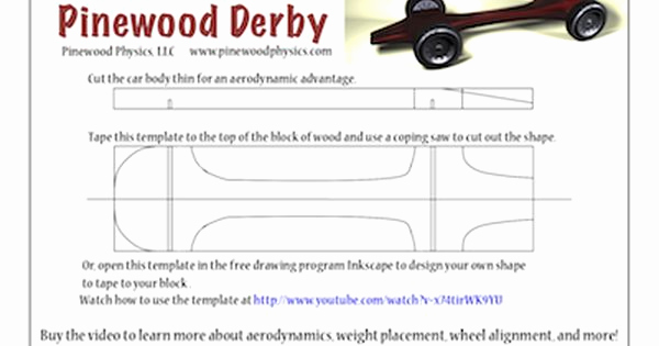 Pinewood Derby Car Template Elegant Pinewood Derby Templates