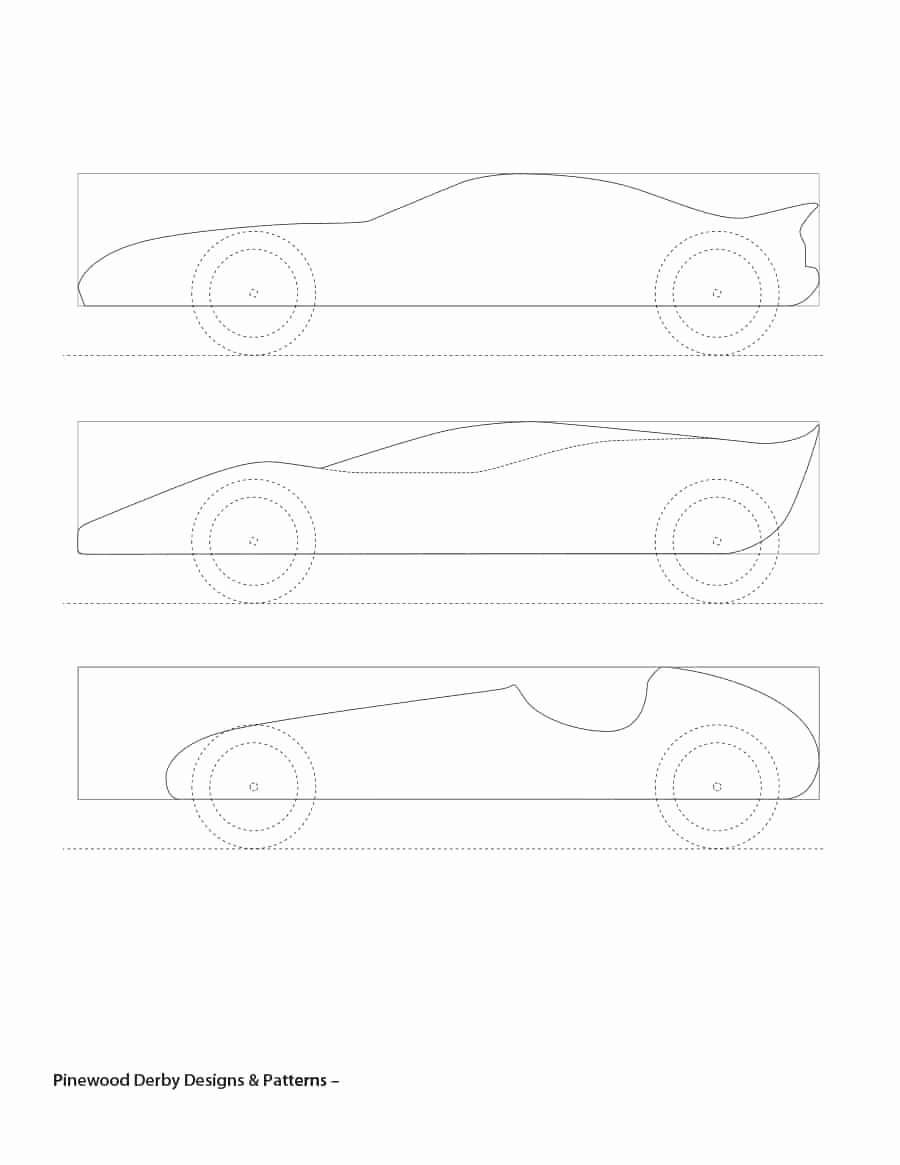 Pinewood Derby Car Template Inspirational 39 Awesome Pinewood Derby Car Designs & Templates