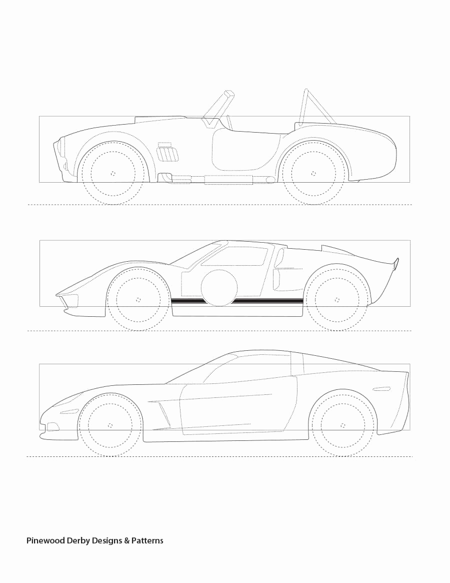 Pinewood Derby Car Template Luxury 39 Awesome Pinewood Derby Car Designs & Templates