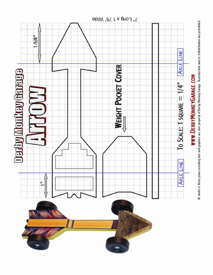 Pinewood Derby Car Template Unique 39 Awesome Pinewood Derby Car Designs & Templates