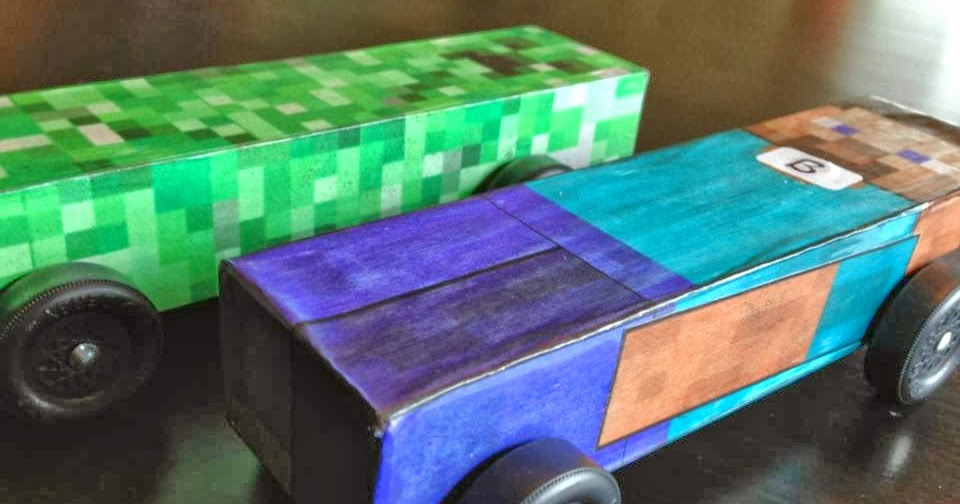 Pinewood Derby Cars Designs Templates Awesome Poor Md Minecraft Pinewood Derby Car with Template