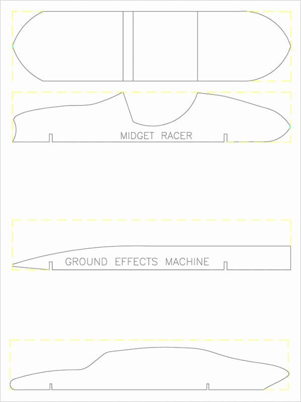 Pinewood Derby Cars Designs Templates Elegant Pinewood Derby Templates