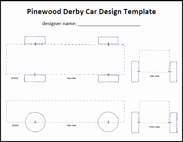 Pinewood Derby Cars Designs Templates Luxury Cub Scout Pinewood Derby Car Tempate