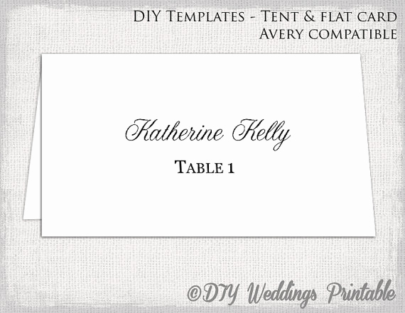 Place Card Templates Word Beautiful Place Card Template Tent & Flat Name Card Templates