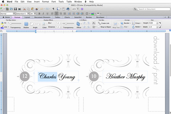 Place Card Templates Word Best Of Free Printable Place Cards