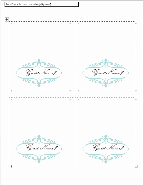 Placement Card Template Word Awesome How to Make Your Own Place Cards for Free with Word and