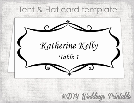 Placement Card Template Word Fresh Place Card Template Tent and Flat Name Card Templates