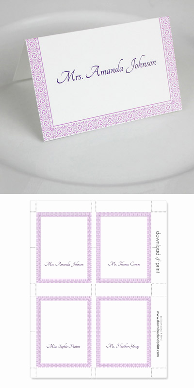 Placement Card Template Word Inspirational Microsoft Word Wedding Place Card Templates