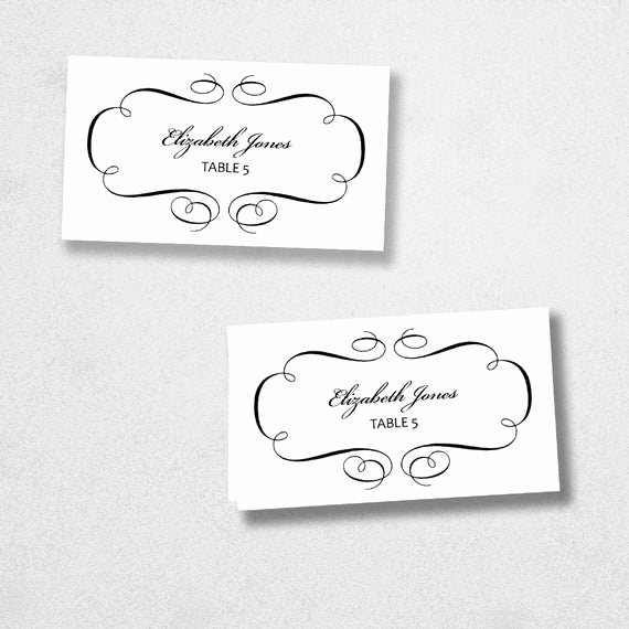 Placement Card Template Word Lovely Printable Place Card Template Instant Download Escort Card