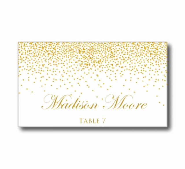 Placement Card Template Word Lovely Printable Wedding Place Cards Gold Wedding Gold