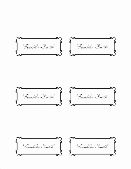 Placement Card Template Word New Place Cards Template
