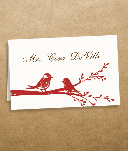 Placement Card Template Word Unique Love Birds Place Cards Template – Download & Print