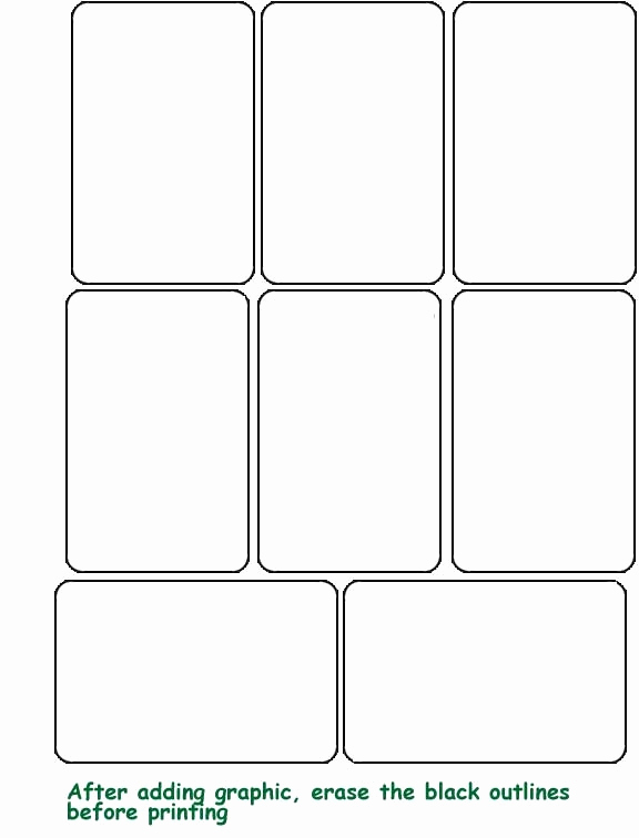 Playing Card Template Word Awesome Playing Card Template