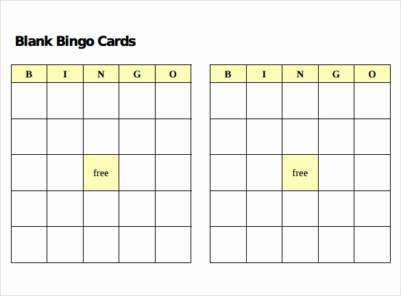 Playing Card Template Word Inspirational Sample Bingo Card 11 Documents In Pdf Word