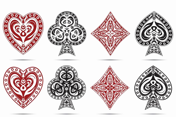 Playing Card Template Word New Playing Cards Symbols Icons On Creative Market