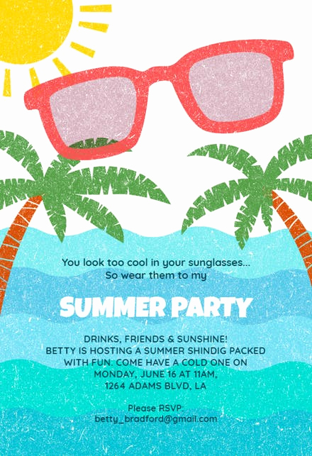 Pool Party Invites Templates Awesome Pool Party Invitation Templates Free
