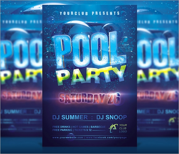 Pool Party Invites Templates Beautiful 12 Sample Best Pool Party Invitations Word Psd Ai