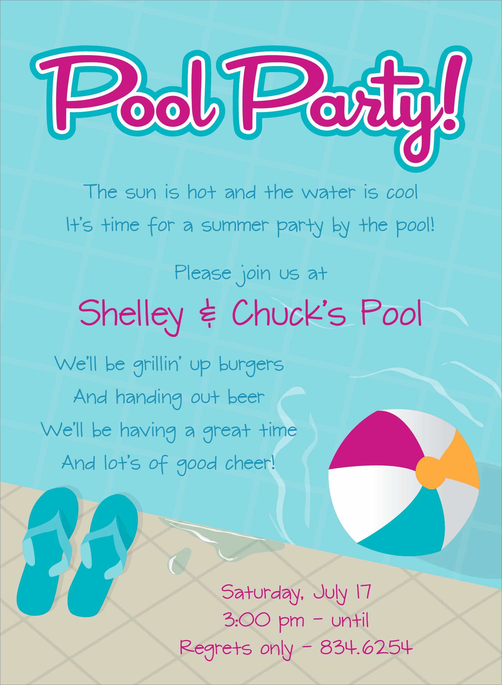 Pool Party Invites Templates Best Of Pool Party Free Line Invitations