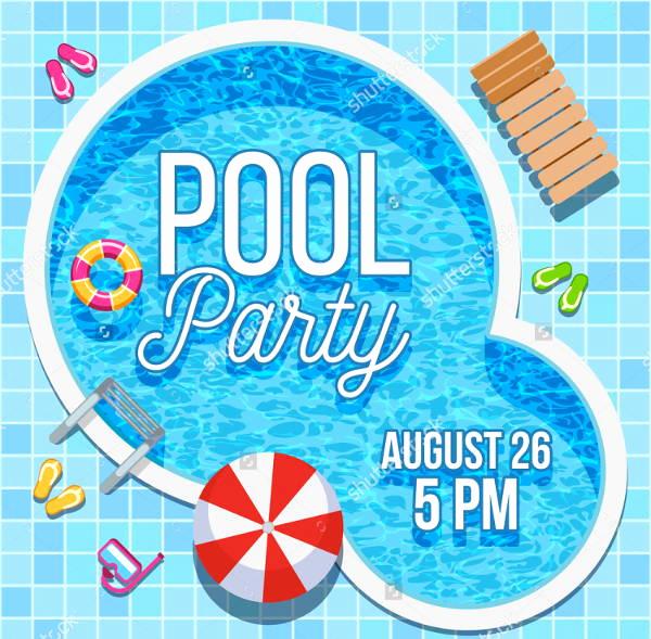 Pool Party Invites Templates Elegant 7 Blank Party Invitations Free Editable Psd Ai Vector