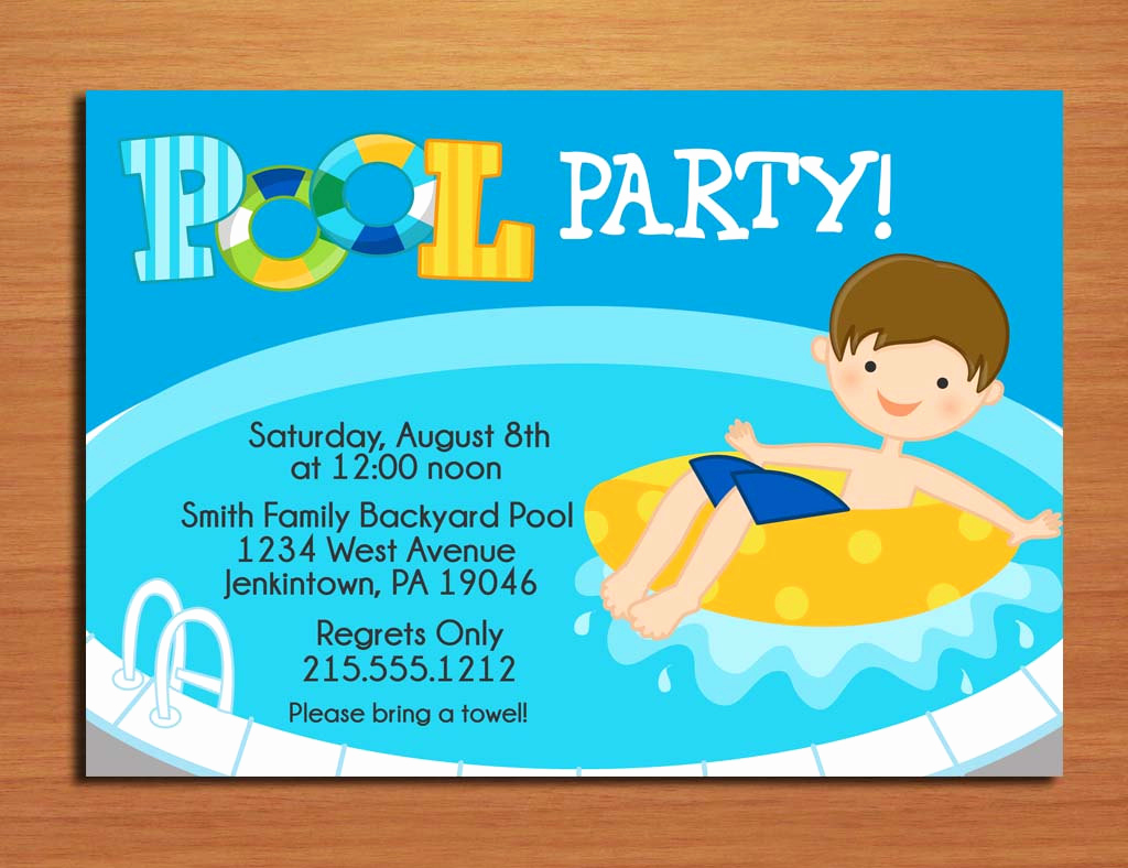 Pool Party Invites Templates Elegant Free Printable Birthday Pool Party Invitations