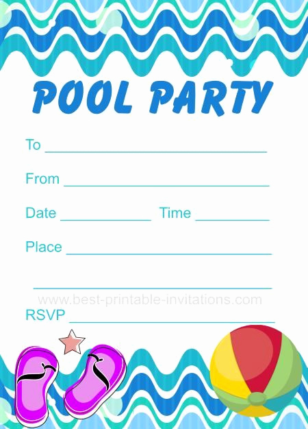 Pool Party Invites Templates Fresh Pool Party Invitation Free Printable Party Invites From