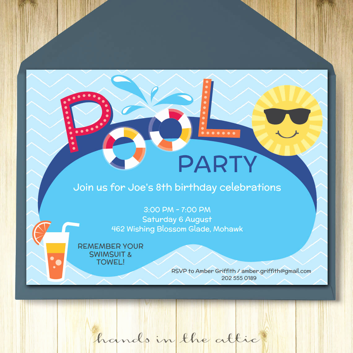 Pool Party Invites Templates Fresh Pool Party Invitation Printable Template