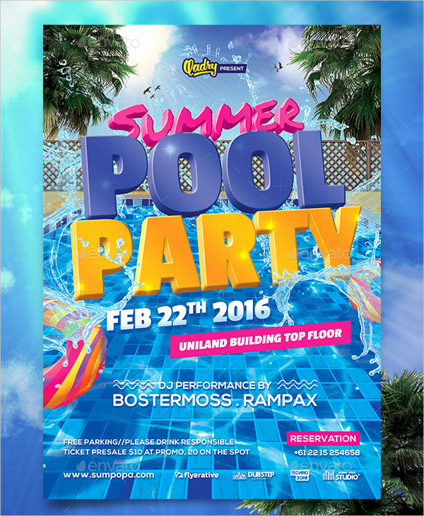 Pool Party Invites Templates Lovely 33 Printable Pool Party Invitations Psd Ai Eps Word