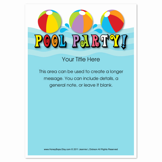 Pool Party Invites Templates Lovely Pool Party Everyone Invitations & Cards On Pingg