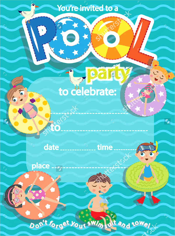 Pool Party Invites Templates Luxury 51 Invitation Flyer Design Templates Psd Ai