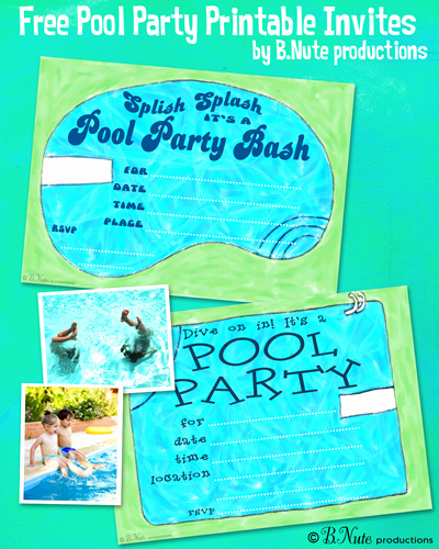 Pool Party Invites Templates New Bnute Productions May 2013