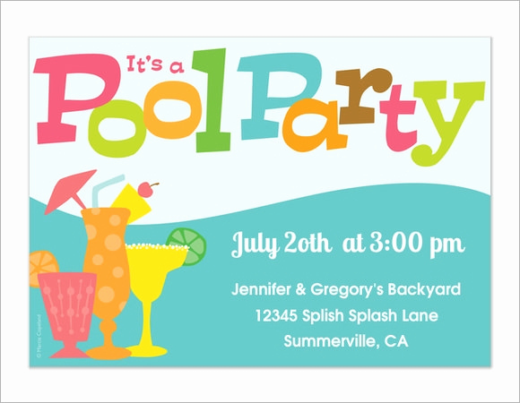 Pool Party Invites Templates Unique 12 Sample Best Pool Party Invitations Word Psd Ai
