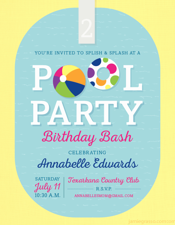 Pool Party Invites Templates Unique 36 Pool Party Invitation Templates Psd Ai Word
