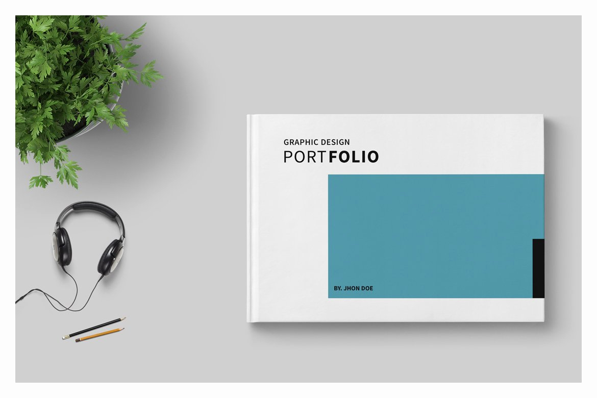 Portfolio Cover Page Template Beautiful Graphic Design Portfolio Template Brochure Templates