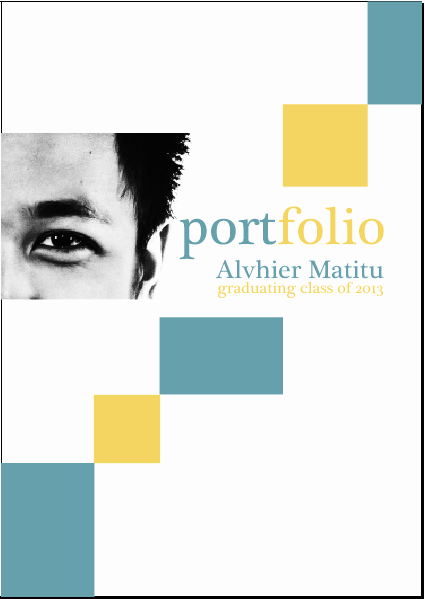 Portfolio Cover Page Template Beautiful Ugly Guy S Blog