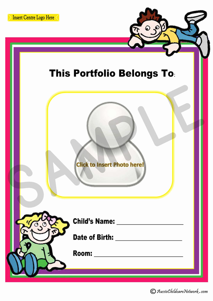 Portfolio Cover Page Template Elegant Portfolio Coverpage Aussie Childcare Network