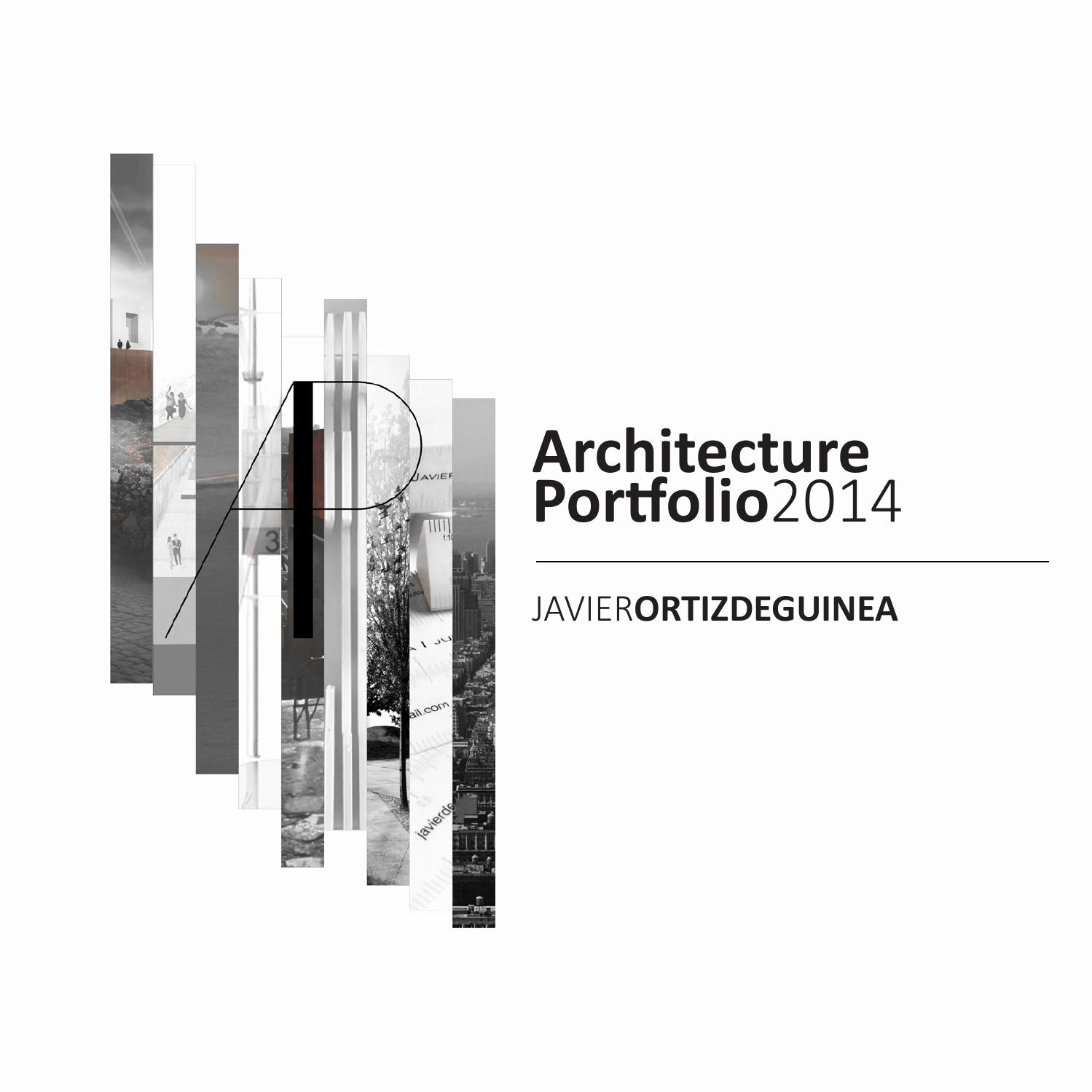Portfolio Cover Page Template Lovely Architecture Portfolio by Javier ortiz De Guinea issuu
