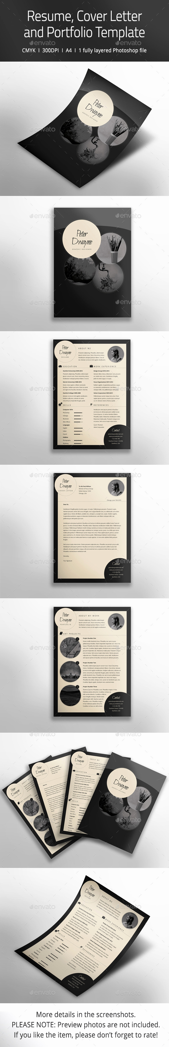 Portfolio Cover Page Template Lovely Resume Cover Letter and Portfolio Template by
