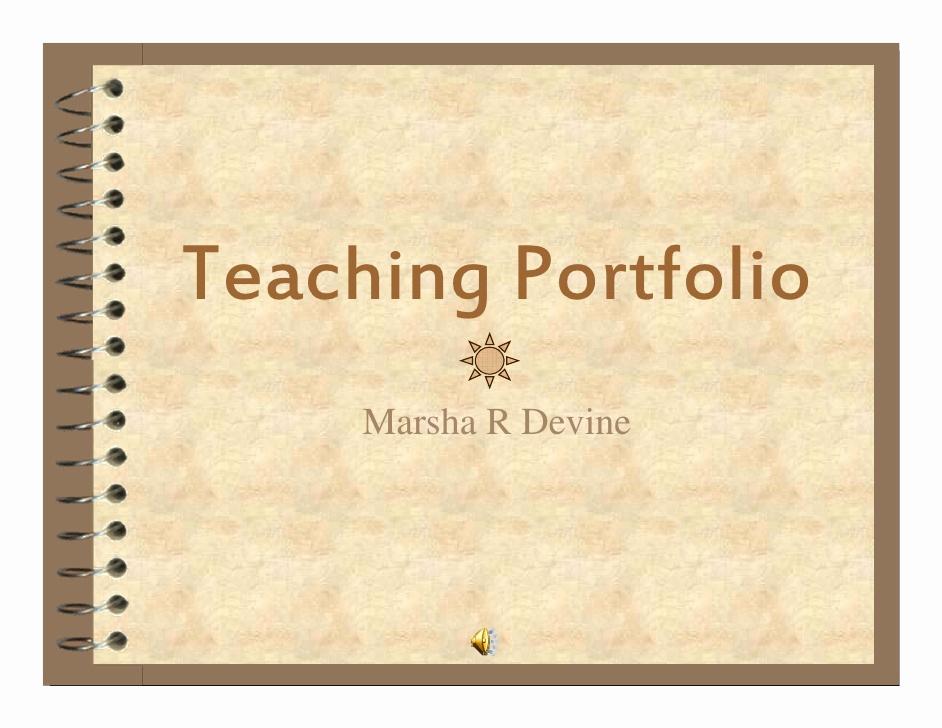 Portfolio Cover Page Template Luxury Teaching Portfolio M Devine 2008