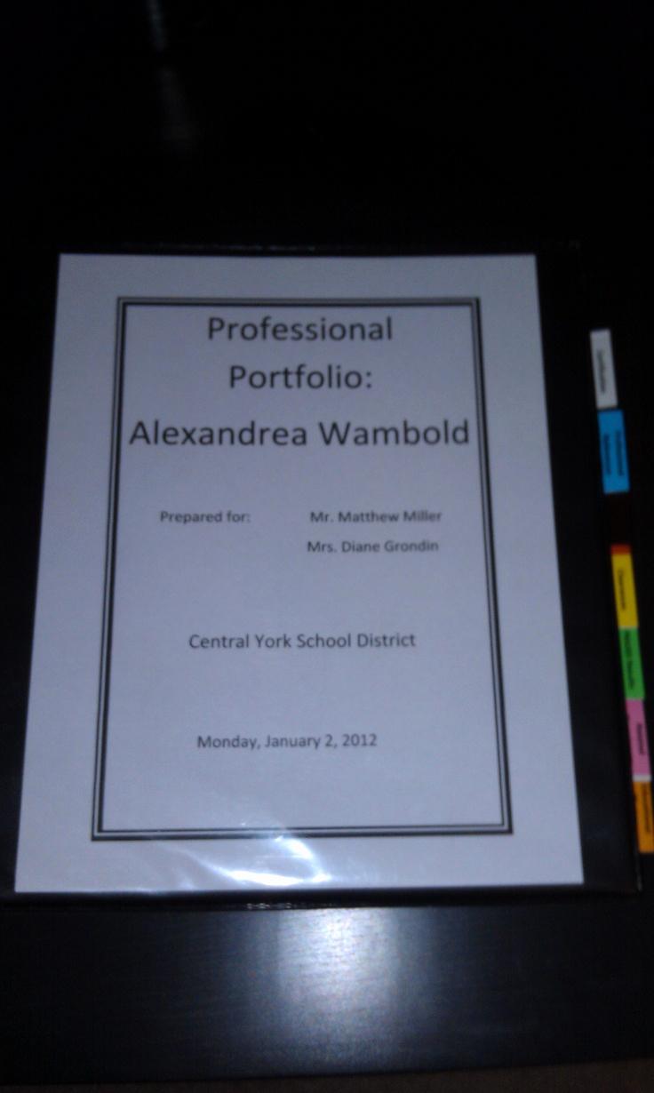 Portfolio Cover Page Template Luxury Teaching Professional Portfolio Cover